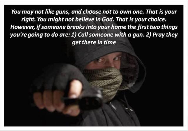 you may not like guns